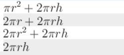 Чему равна площадь полной поверхности цилиндра