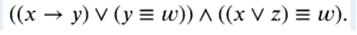 Логическая функция F задаётся выражением