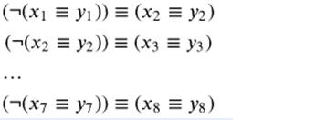 В ответе не нужно перечислять все различные наборы значений переменных
